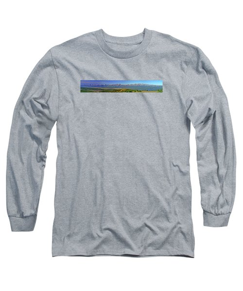 Heart Of The Sawatch Panoramic Long Sleeve T-Shirt by Jeremy Rhoades