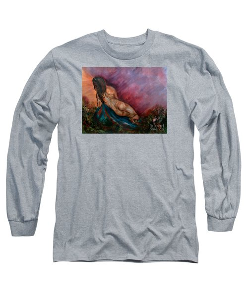 Long Sleeve T-Shirt featuring the painting Heavens Garden by Lori  Lovetere
