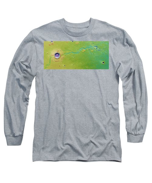 Long Sleeve T-Shirt featuring the photograph Hephaestus Fossae, Mars by Science Source
