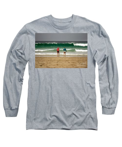 Long Sleeve T-Shirt featuring the photograph Here Comes The Big One by Terri Waters