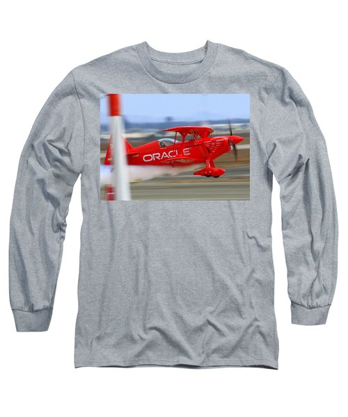 Hi Speed Low Pass By Sean Tucker At Salinas Ksns Air Show Long Sleeve T-Shirt