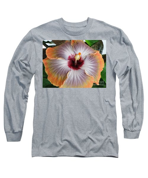 Hibiscus  Long Sleeve T-Shirt by Jennifer Wheatley Wolf