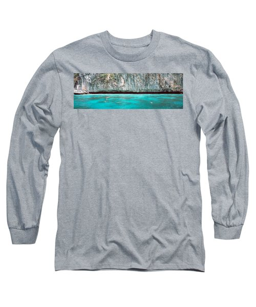 High Angle View Of Three People Long Sleeve T-Shirt