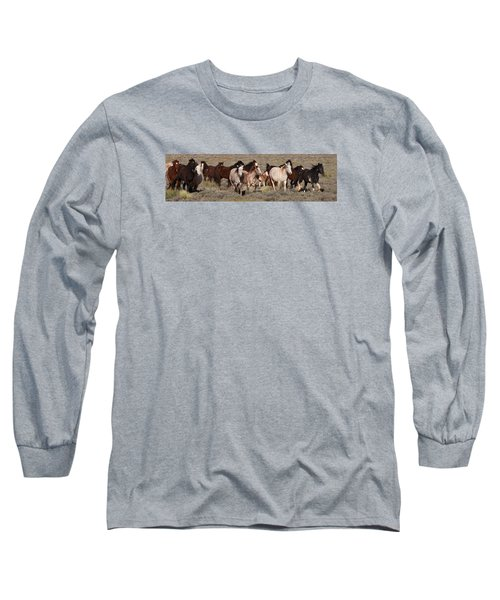 High Desert Horses Long Sleeve T-Shirt by Diane Bohna