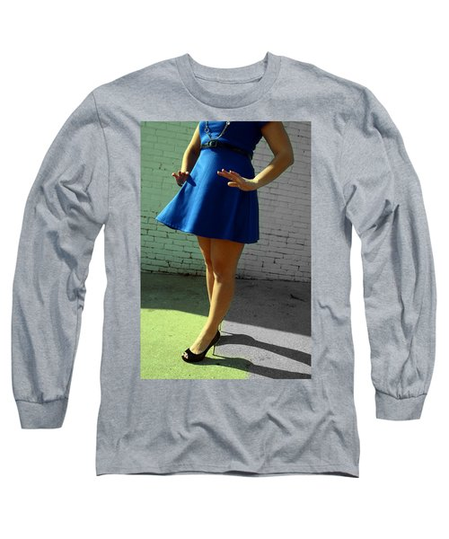 High Heels And A Blue Skirt Long Sleeve T-Shirt