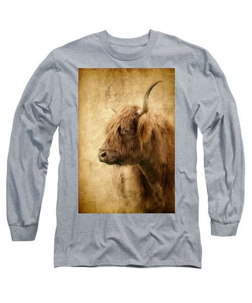 Highland Bull Long Sleeve T-Shirt by Athena Mckinzie