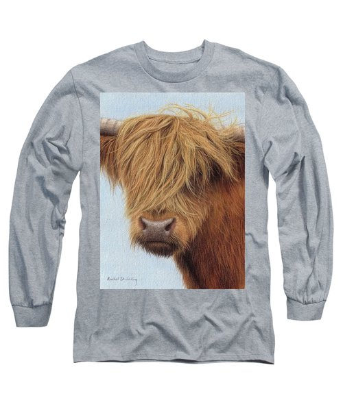 Highland Cow Painting Long Sleeve T-Shirt