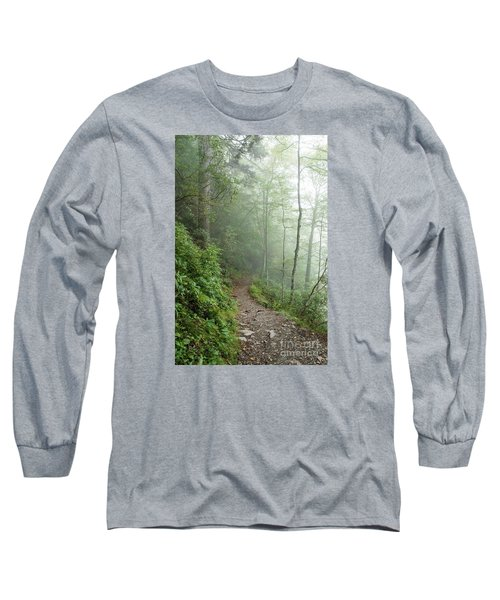 Hiking In The Clouds Long Sleeve T-Shirt by Debbie Green