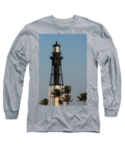 Hillsboro Inlet Lighthouse In The Evening Long Sleeve T-Shirt
