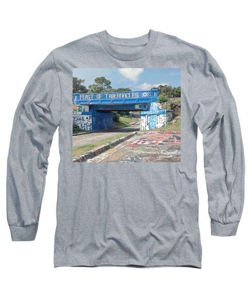 Historic Pensacola Graffiti Bridge Long Sleeve T-Shirt