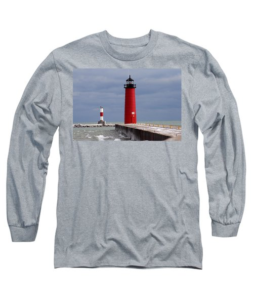 Long Sleeve T-Shirt featuring the photograph Historic Pierhead Lighthouse by Kay Novy