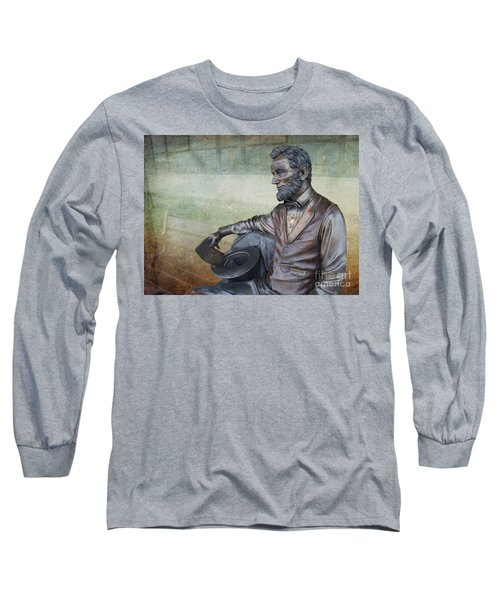 History - Abraham Lincoln Contemplates -  Luther Fine Art Long Sleeve T-Shirt