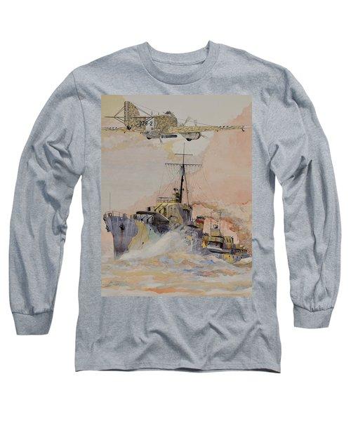 Hms Ashanti Long Sleeve T-Shirt by Ray Agius