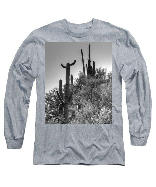 Horn Saguaro Cactus Long Sleeve T-Shirt