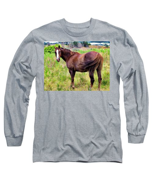 Long Sleeve T-Shirt featuring the photograph Horse 5 by Dawn Eshelman