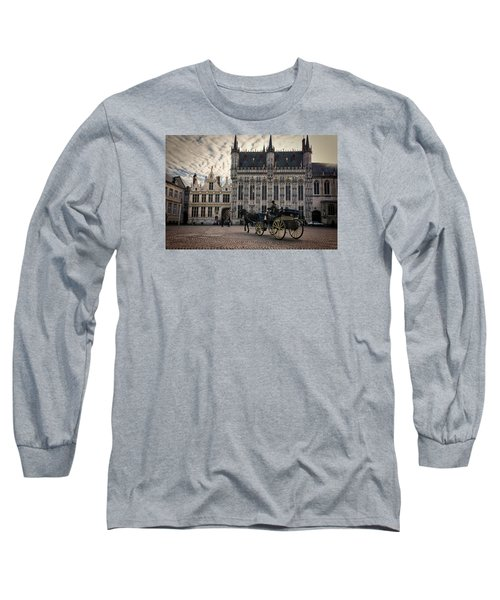 Horse And Carriage Long Sleeve T-Shirt by Joan Carroll