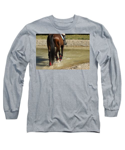 Horse In Water Long Sleeve T-Shirt