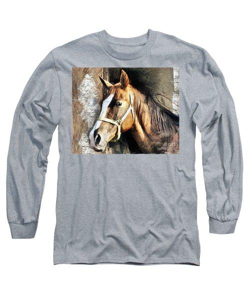 Horse Portrait - Drawing Long Sleeve T-Shirt