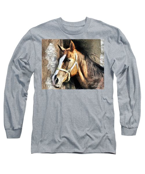 Horse Portrait - Drawing Long Sleeve T-Shirt