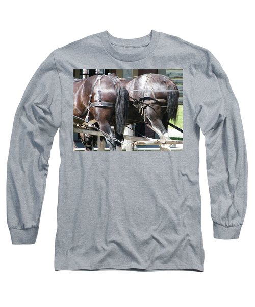 Long Sleeve T-Shirt featuring the photograph Horse Power by Ann E Robson