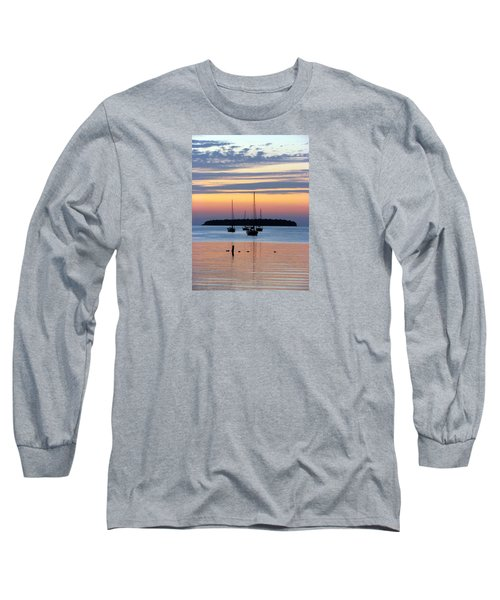 Horsehoe Island Sunset Long Sleeve T-Shirt by David T Wilkinson