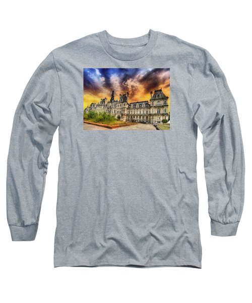 Sunset At The Hotel De Ville Long Sleeve T-Shirt by Charmaine Zoe