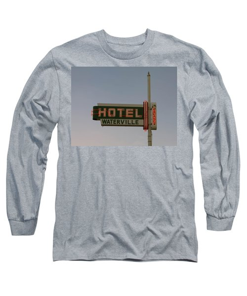 Hotel Waterville Neon Sign Long Sleeve T-Shirt
