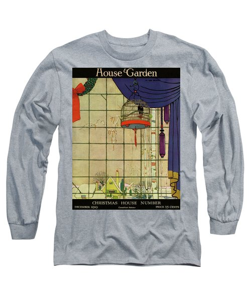 House And Garden Christmas House Number Cover Long Sleeve T-Shirt