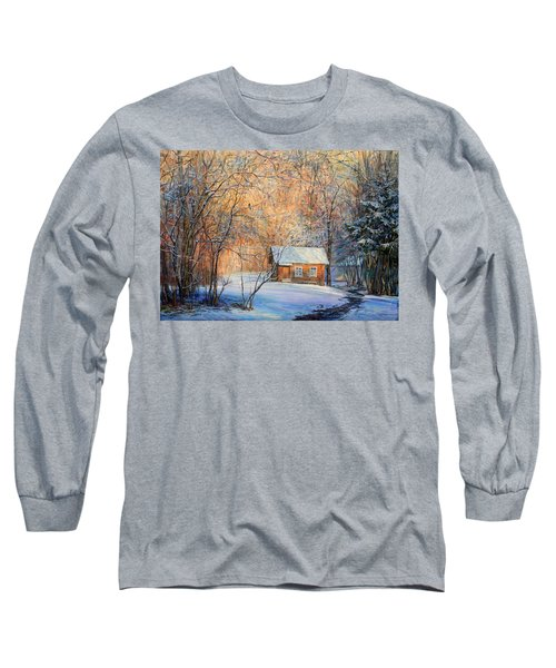 House In The Winter Forest  Long Sleeve T-Shirt
