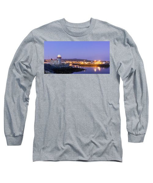 Howth Harbour Lighthouse Long Sleeve T-Shirt by Semmick Photo