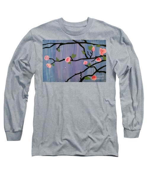 Long Sleeve T-Shirt featuring the painting Humble Splash by Marisela Mungia