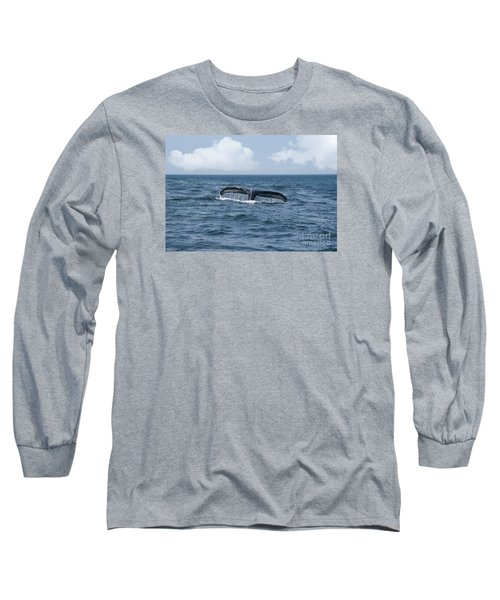 Humpback Whale Fin Long Sleeve T-Shirt by Juli Scalzi