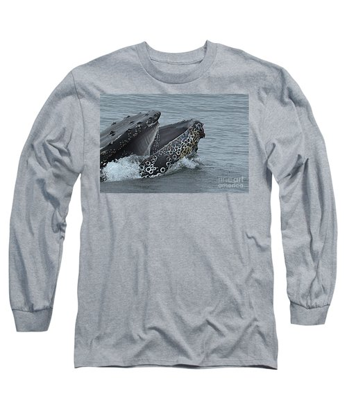 Long Sleeve T-Shirt featuring the photograph Humpback Whale  Lunge Feeding 2013 In Monterey Bay by California Views Mr Pat Hathaway Archives