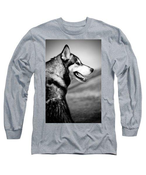 Husky Portrait Long Sleeve T-Shirt