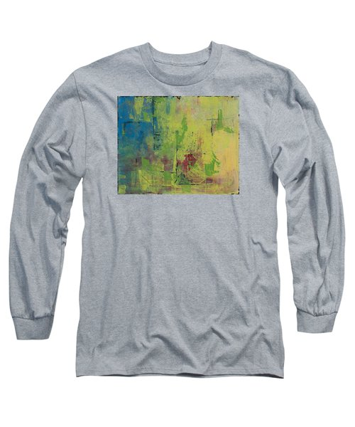 Curious Yellow Long Sleeve T-Shirt by Lee Beuther