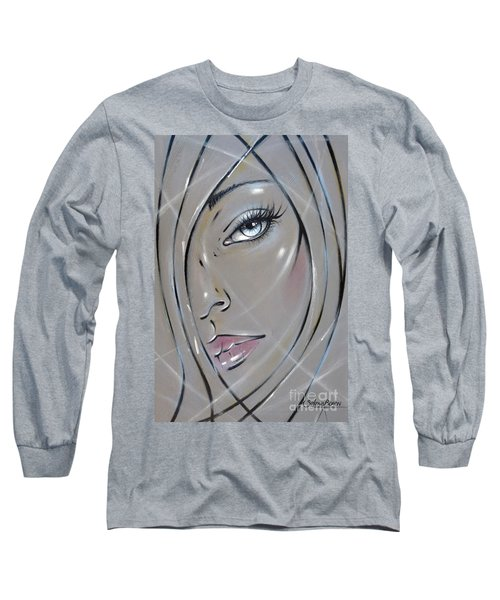 Long Sleeve T-Shirt featuring the painting I Want The Truth 310811 by Selena Boron