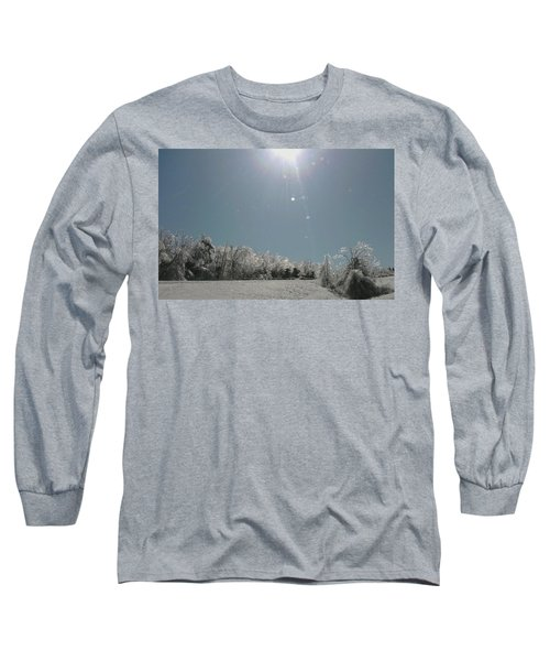 Long Sleeve T-Shirt featuring the photograph Ice Kissed by Ellen Levinson