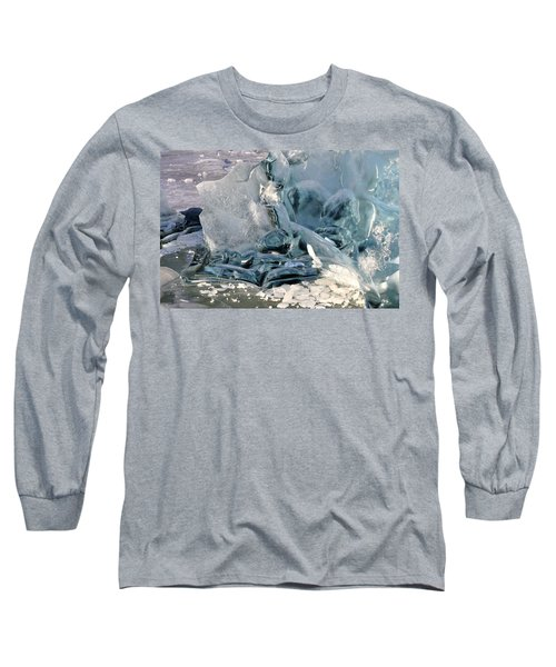 Iceberg Detail - Mendenhall Lake Long Sleeve T-Shirt