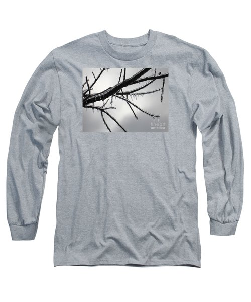 Long Sleeve T-Shirt featuring the photograph Iced Tree by Ann Horn