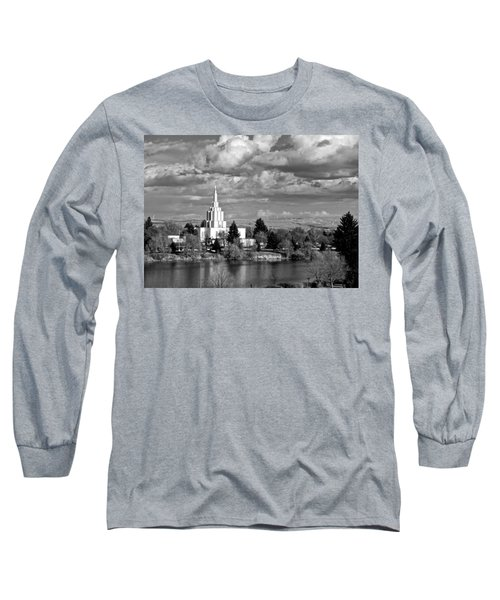 Idaho Falls Temple Long Sleeve T-Shirt by Eric Tressler