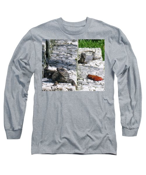 Long Sleeve T-Shirt featuring the photograph Iguana Bask In The Sun With You by Patti Whitten