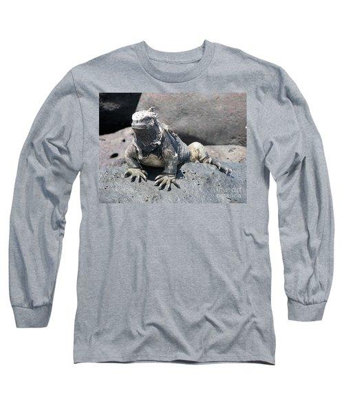 Iguana Or Prehistory Survivor Long Sleeve T-Shirt