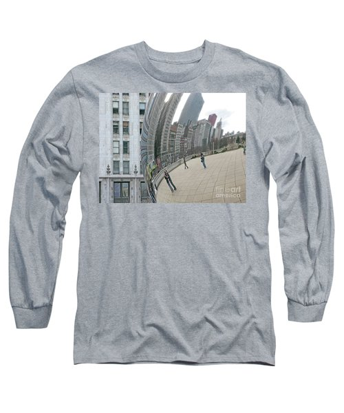 Long Sleeve T-Shirt featuring the photograph Imaging Chicago by Ann Horn