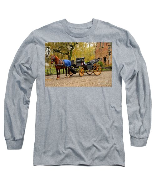 Immaculate Horse And Carriage Bruges Belgium Long Sleeve T-Shirt