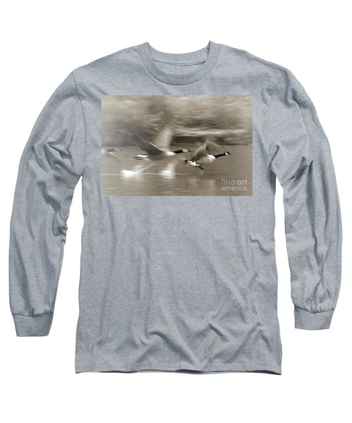 In A Blur Of Feathers Long Sleeve T-Shirt