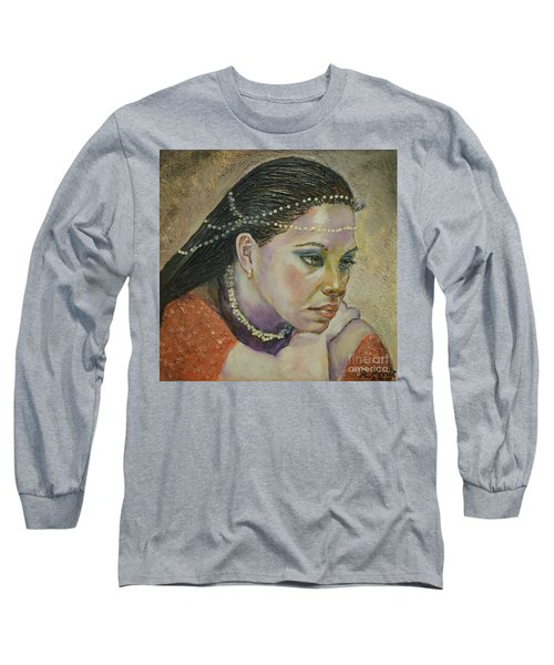 In Her Thoughts Long Sleeve T-Shirt