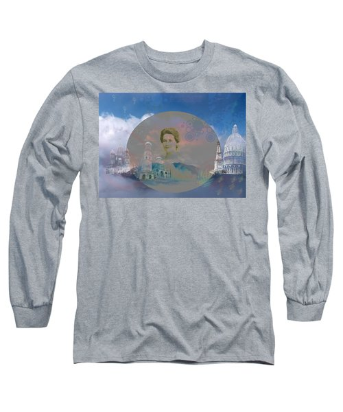 Long Sleeve T-Shirt featuring the digital art In The Air by Cathy Anderson