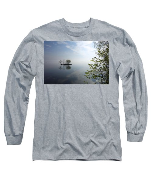 In The Distance On Mille Lacs Lake In Garrison Minnesota Long Sleeve T-Shirt
