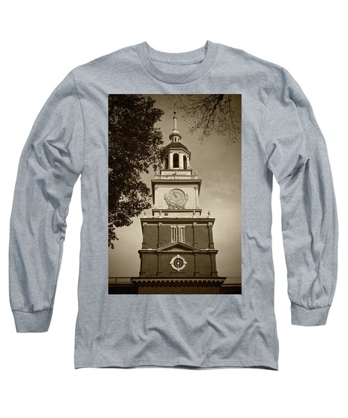 Independence Hall - Bw Long Sleeve T-Shirt