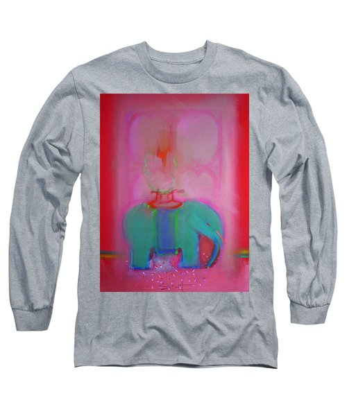 Indian Elephant Long Sleeve T-Shirt by Charles Stuart